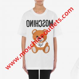 Moschino Inside Out Teddy Bear T-Shirt White