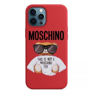 Moschino Micro Teddy Bear iPhone Case Red