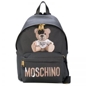 Moschino Paper Bear Large Backpack Black