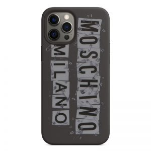 Moschino Safety Pin Tags iPhone Case Black