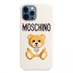 Moschino x The Sims Pixel Teddy Bear iPhone Case White