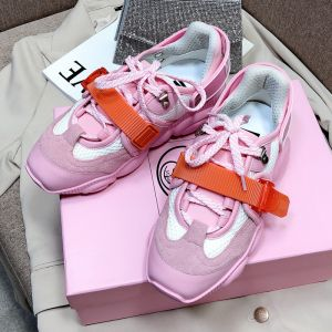 Moschino Roller Skates Teddy Sole Sneakers Pink