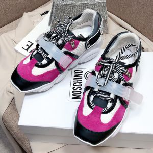 Moschino Roller Skates Teddy Sole Sneakers White/Rose