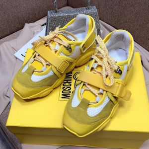 Moschino Roller Skates Teddy Sole Sneakers Yellow