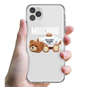 Moschino Severed Head Teddy iPhone Case Transparent