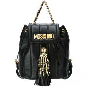 Moschino Skeleton Hand Small Backpack Black