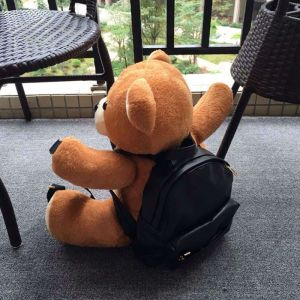 Moschino Teddy Bear Large Fur Backpack Brown