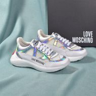 Love Moschino Red Heart Sneakers White