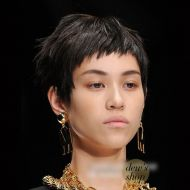Moschino M Letter Earrings Gold
