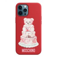 Moschino Cake Teddy Bear iPhone Case Red