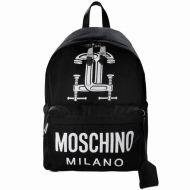 Moschino Clamp Marks Large Backpack Black