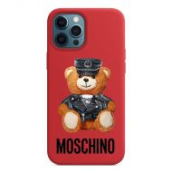 Moschino Dressed Bear iPhone Case Red