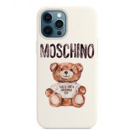 Moschino Painted Teddy Bear iPhone Case White
