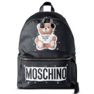 Moschino Safety Pin Teddy Large Backpack Black