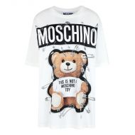 Moschino Safety Pin Teddy T-Shirt White