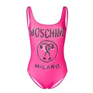 Moschino Scribble Question Swimsuit Rose