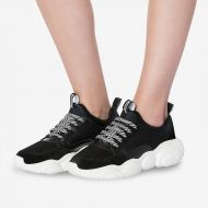 Moschino Teddy Sole Mesh Sneakers Black