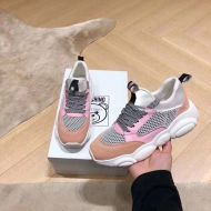 Moschino Teddy Sole Mesh Sneakers Pink